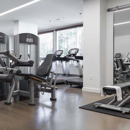 fitness center at the modern