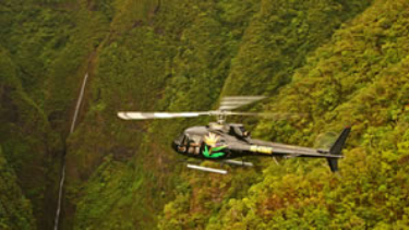 Helicopter tour in hawaii over mountains